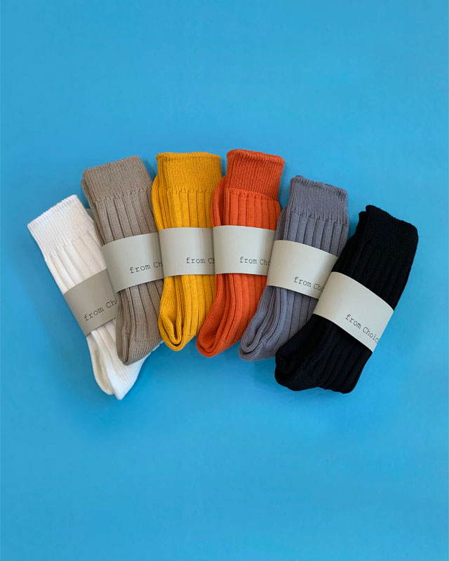 Basic Knit Socks - 6 color