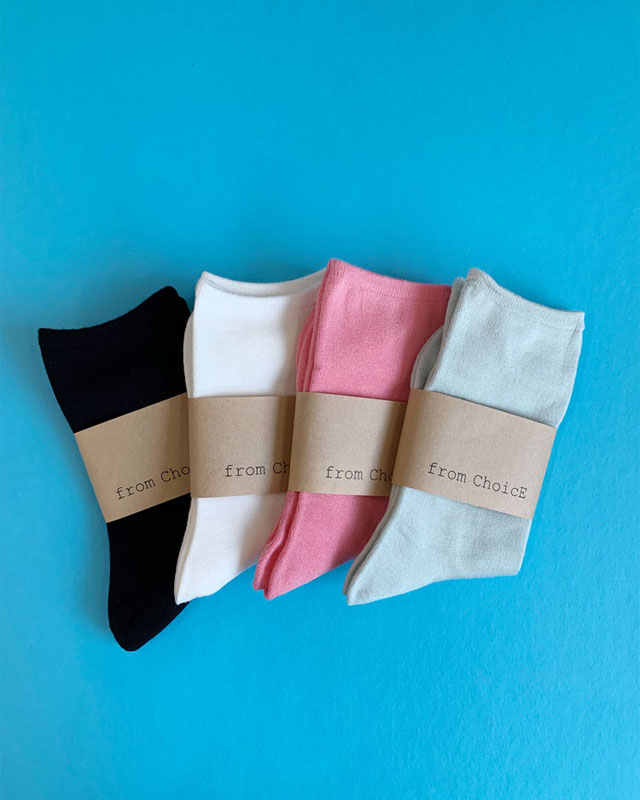 Color Rayon Socks - 4 colors